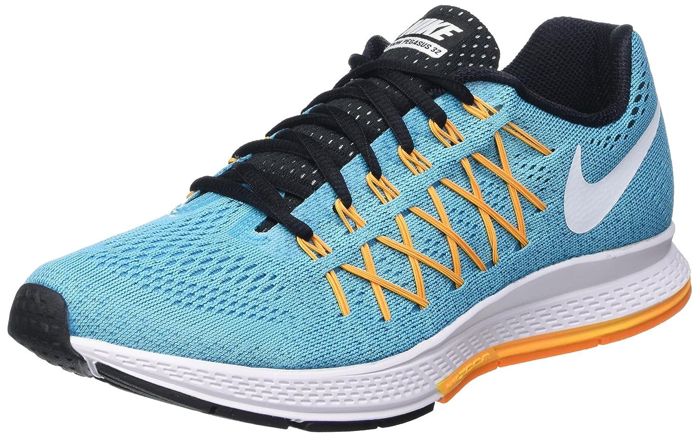 NIKE Women's Air Zoom Pegasus 32 Running Shoe B014EC61F2 6.5 B(M) US|Gamma Blue/White-laser Orange-vivid Orange