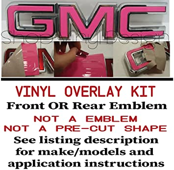 Amazon com: Oracal _ Shop Vinyl Design GMC Front or Rear Emblem Kit