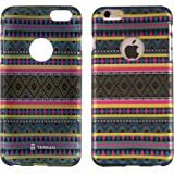 Tarkan Aztec Water-Transfer Print Rubber Protective Premium Back Case Cover for Apple iPhone 6 / 6s 4.7 inch