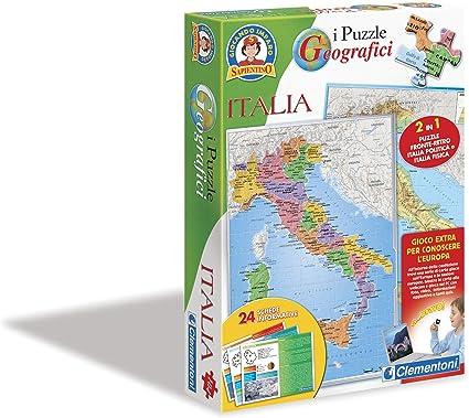 Clementoni 12814 Sapientino - Puzzle de Mapa de Italia [Importado de Italia]: Amazon.es: Juguetes y juegos