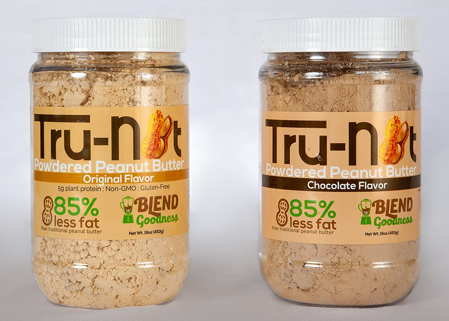 Amazon.com : Tru-Nut 16 Ounce Powdered Peanut Butter, Chocolate, 2 Count : Grocery & Gourmet Food