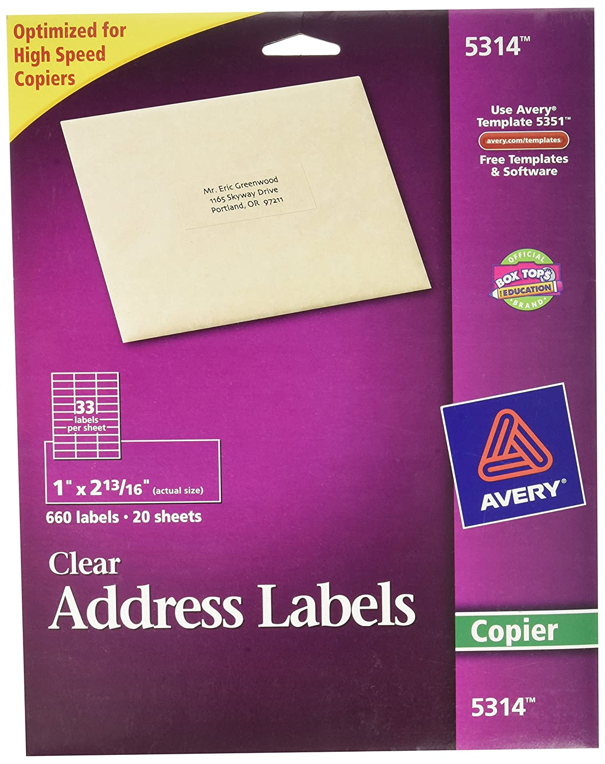 Amazon.com : Avery 5314 Self-adhesive address labels for copiers ...