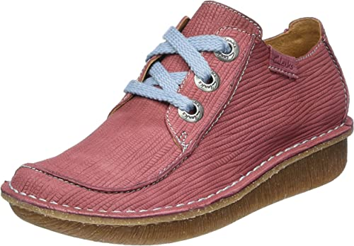 Clarks Women's Funny Dream Brogues, Red