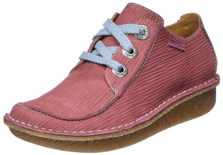 Clarks Funny Dream, Zapatos de Cordones Brogue para Mujer 41 EU Rojo (Brick)