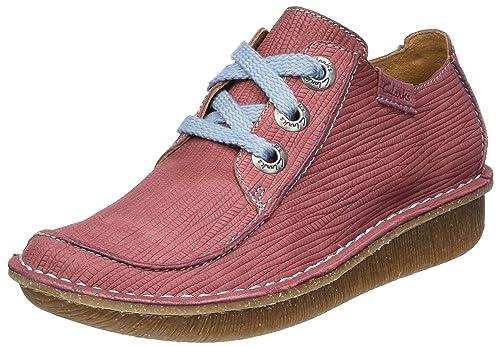 Clarks Funny Dream, Zapatos de Cordones Brogue Para Mujer, Rojo (Brick), 39.5 EU