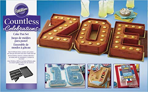 Wilton Countless Celebrations Set, 10-Piece Letter and Number cake pan, STD