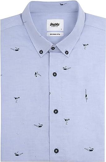 Brava Fabrics Camisa Estampada Vintage Swimmer - Algodón ...