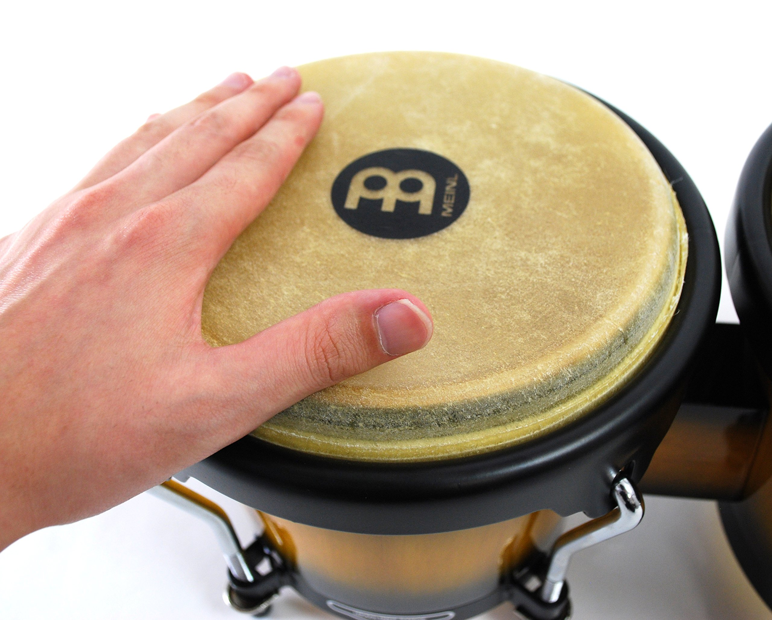 Meinl Percussion Bongos With Hardwood Shells - NOT MADE IN CHINA - Vintage Sun burst Finish, Buffalo Skin Heads, 2-YEAR WARRANTY HB100VSB by Meinl Percussion (Image #2)
