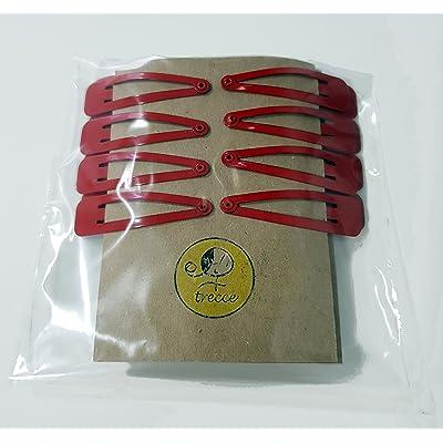 16 Horquillas Azules, Verdes o Rojas, clip o pinza para el pelo de trecce (Rojo)