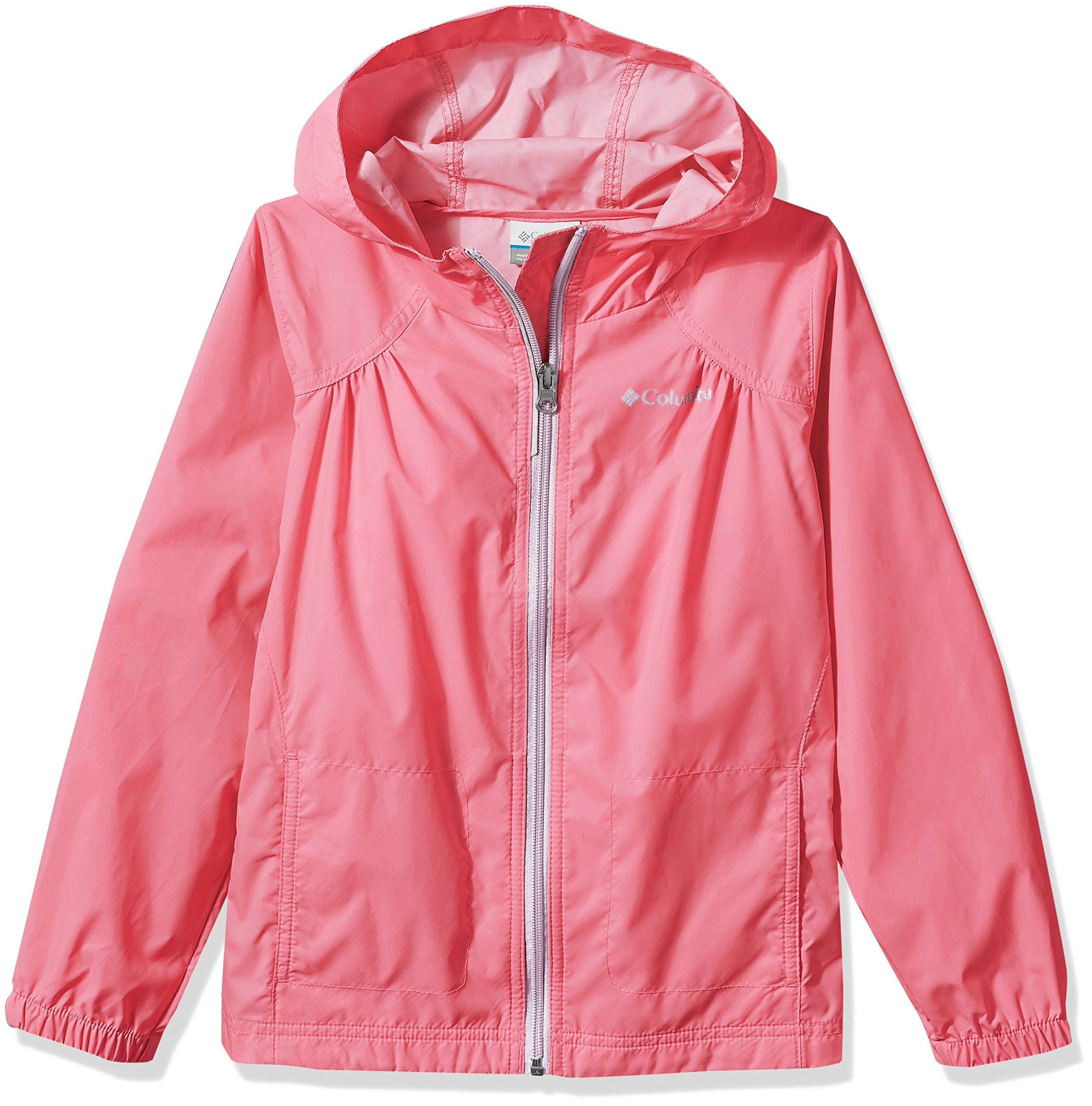 Columbia Big Girl's Switchback Rain Jacket, Lollipop, XL by Columbia