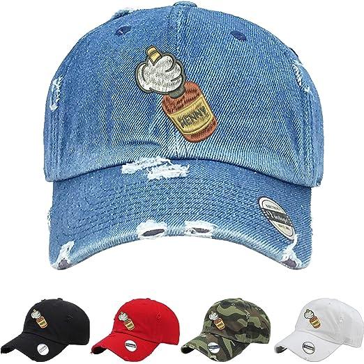 301035747fc Allntrends Adult Hat Mickey Hands Henny Vintage Dad Hat Embroidered (Black)