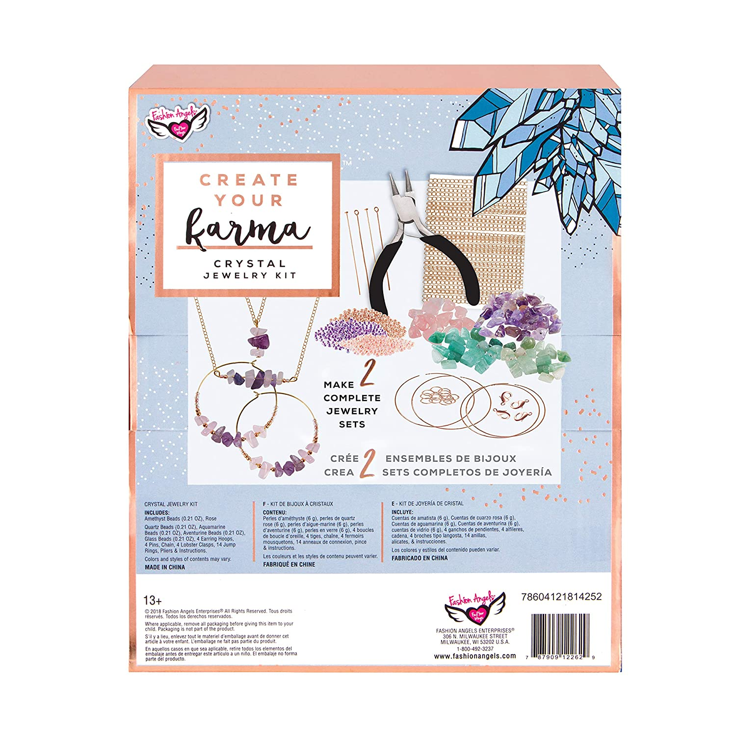 Amazon.com: Fashion Angels Crystal Jewelry Kit, Multicolor: Toys & Games