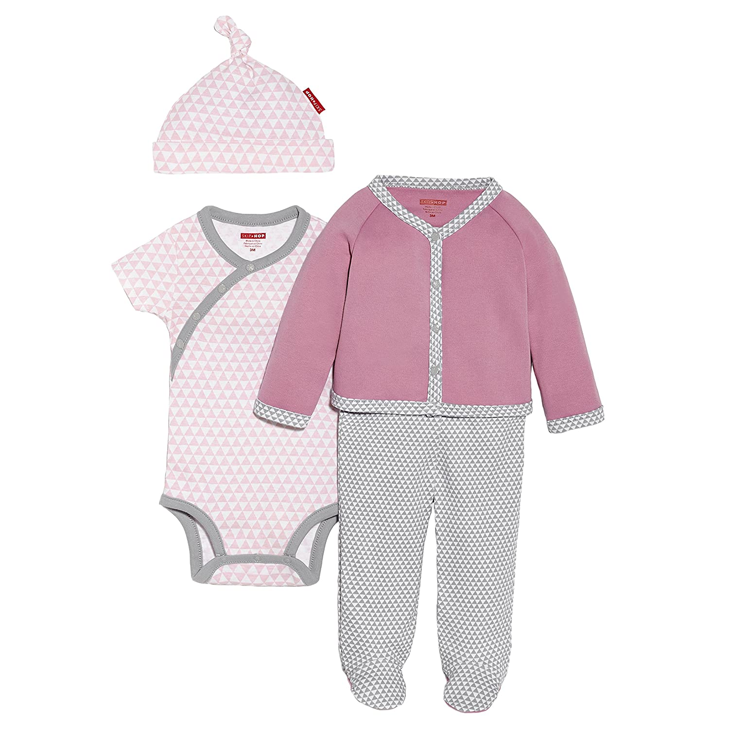 Skip Hop Baby-Girls Baby Baby Girls' 4 Piece Welcome Home Set Pink 3 Months 279250-3M