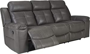Signature Design by Ashley Jesolo Reclining Sofa Dark Gray