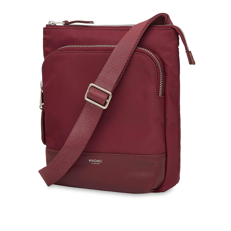 6fcd24d0a3f Amazon.com  Knomo Luggage Carrington Cross Body Bag, Berry, One Size   Clothing