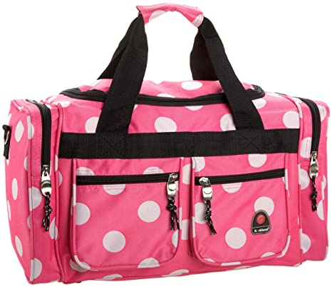 691d9694ce3a Rockland Luggage 19 Inch Tote Bag, Pink Dots, One Size