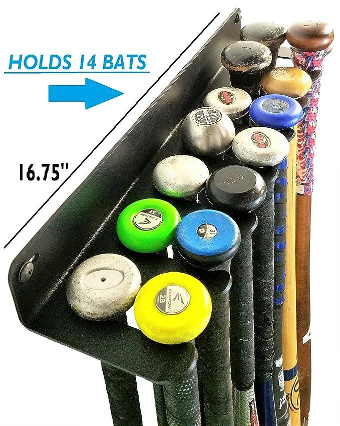 Amazon.com: Alpha Bate rack XL (Holds 14 murciélagos ...