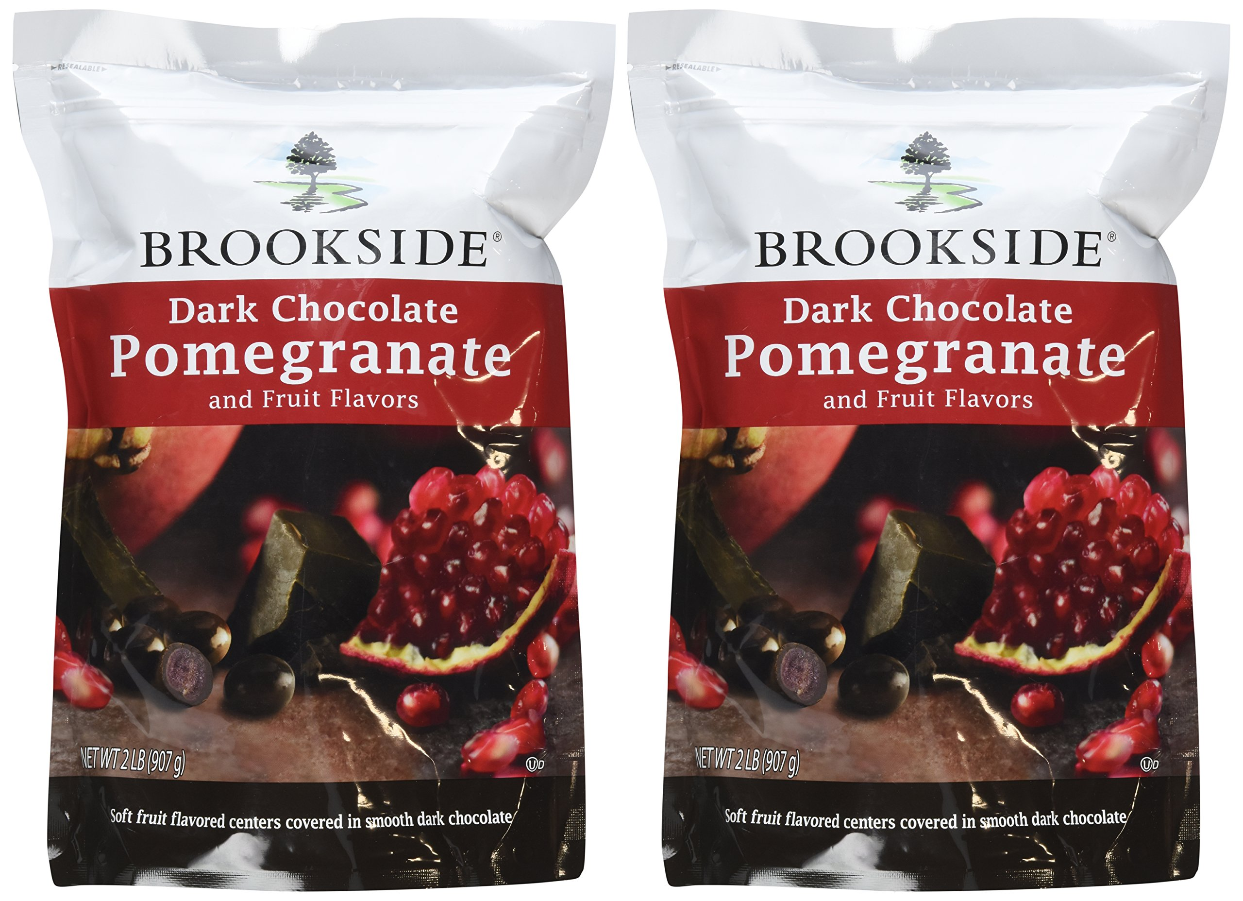 Brookside Dark Chocolate Pomegranate and Fruit Flavors Candy, 32-Ounce Bag (Pack of 2) by Brookside (Image #2)