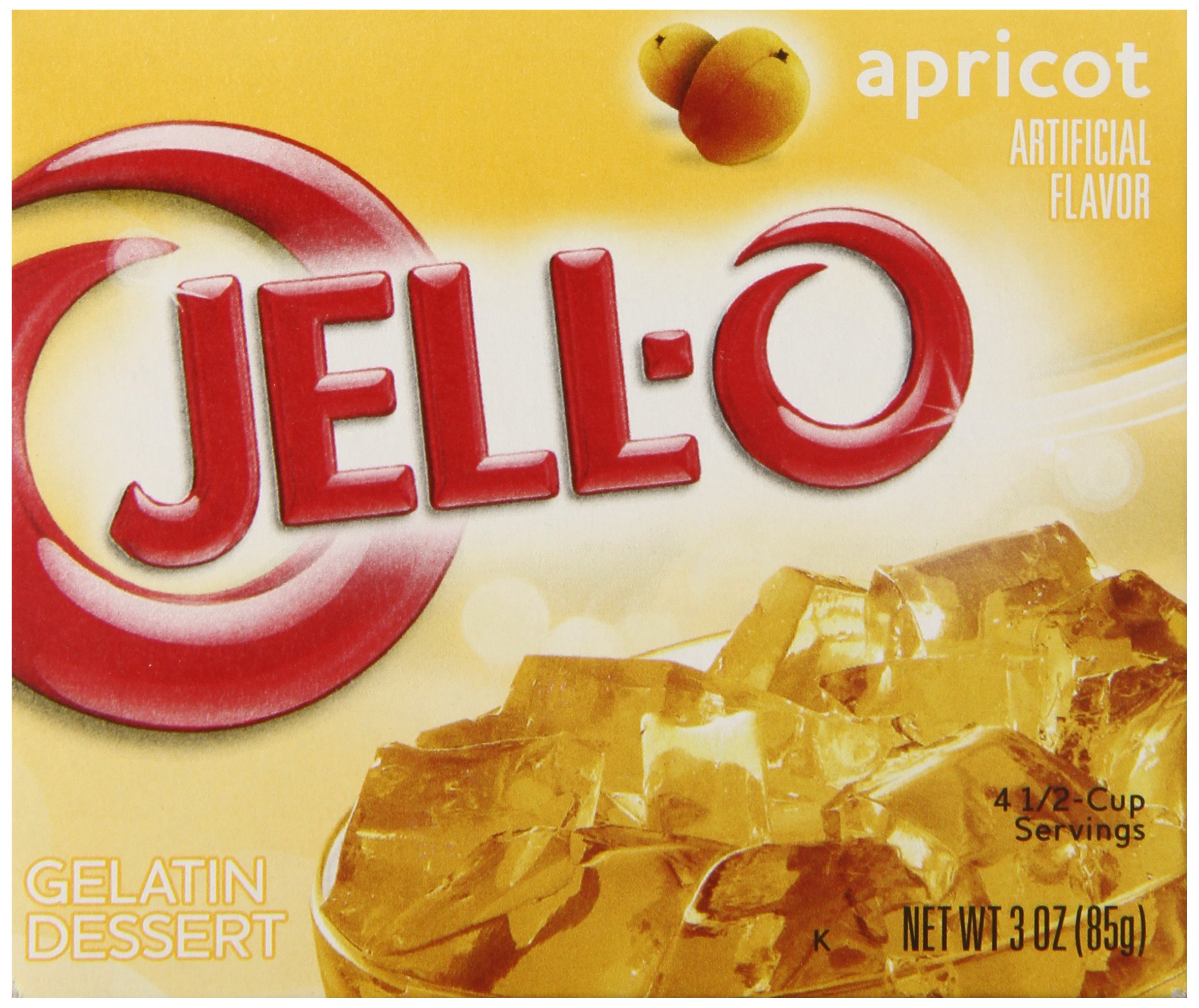 JELL-O Gelatin Dessert, Apricot, 3-Ounce by Jell-O (Image #1)