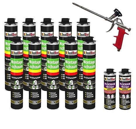 Set pistola de espuma (10 latas de 750 ml Espuma de montaje 1 K Diseño