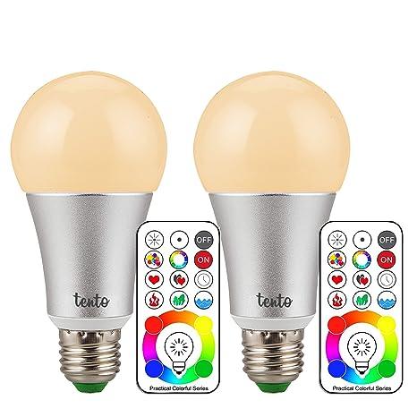 Bombilla de LED de color RGB Bombilla LED 10 W RGBW RGBWW uno botón a luz