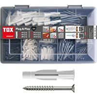 TOX 1190101 assortimentskoffer Plug and Play, 320-delig met universele pluggen Trika 5x31 mm, 6x36 mm, 8x51 mm + perfect…