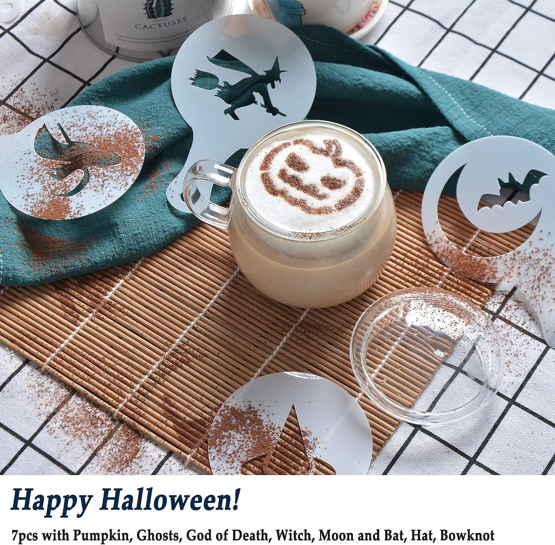 16 pcs Pochoirs /à caf/é Clip SOSMAR 2 x Petite Acier Inoxydable Chocolat Shaker//Dredgers//Arroseur Sucre Sel Farine de Cacao Caf/é Latte Cappuccino en Maille Tamis avec Couvercle