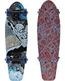 "PlayWheels Ultimate Spider-Man 21"" Wood Cruiser Skateboard - Spider Crawl Graphic"
