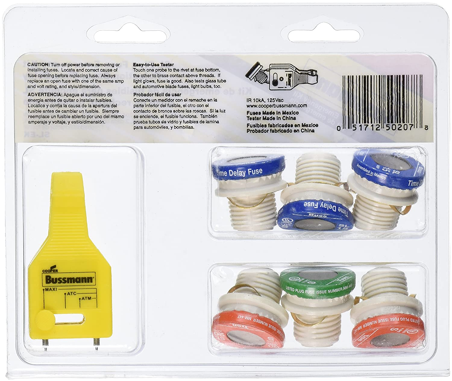 Bussmann SL-EK SL Fuse Assortment Contains 3 Ea. SL-15, 2 Ea. SL-20 And 1 Ea. SL-30 And 1 Fuse Tester, 6-Pack plus Tester - Cartridge Fuses - Amazon.com