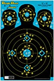 """10 Pack - 12"""" X 18"""" Triple Threat Target - Instant Bright Blast Reactive Silhouette Shooting Target"""