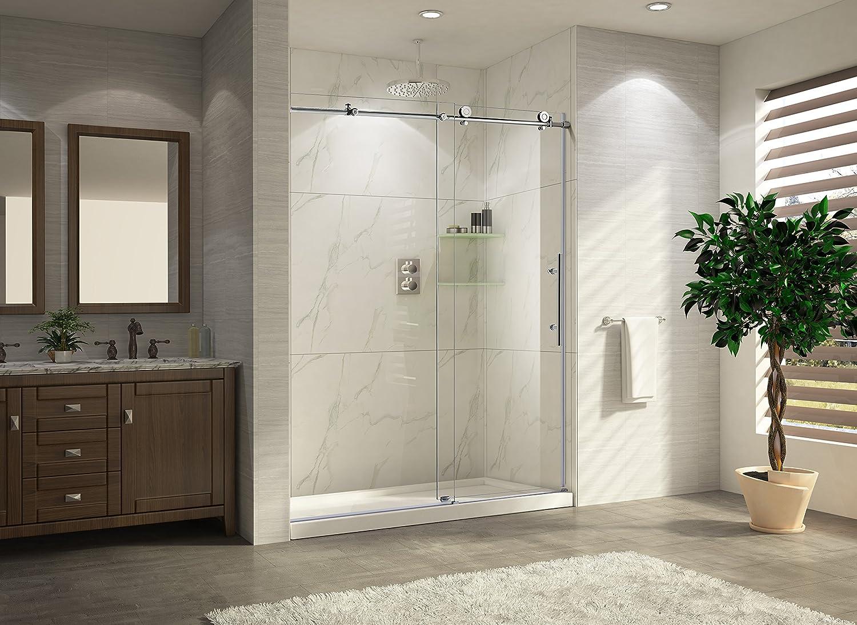 Paragon baño crsbs03676-brn sin marco deslizante para mampara de ...