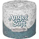 "Georgia-Pacific Angel Soft Professional Series 16620 White 2-Ply Premium Embossed Toilet Paper, Bathroom Tissue, 4"" Width x 4.05"" Length (20 Rolls of 450 Sheets)"