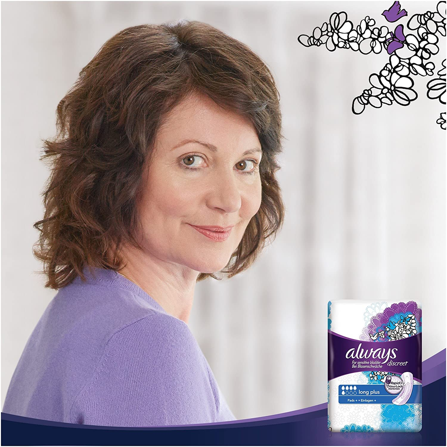 Always Discreet Incontinence Long Plus Pads 8pk Case Of 4 by Always
