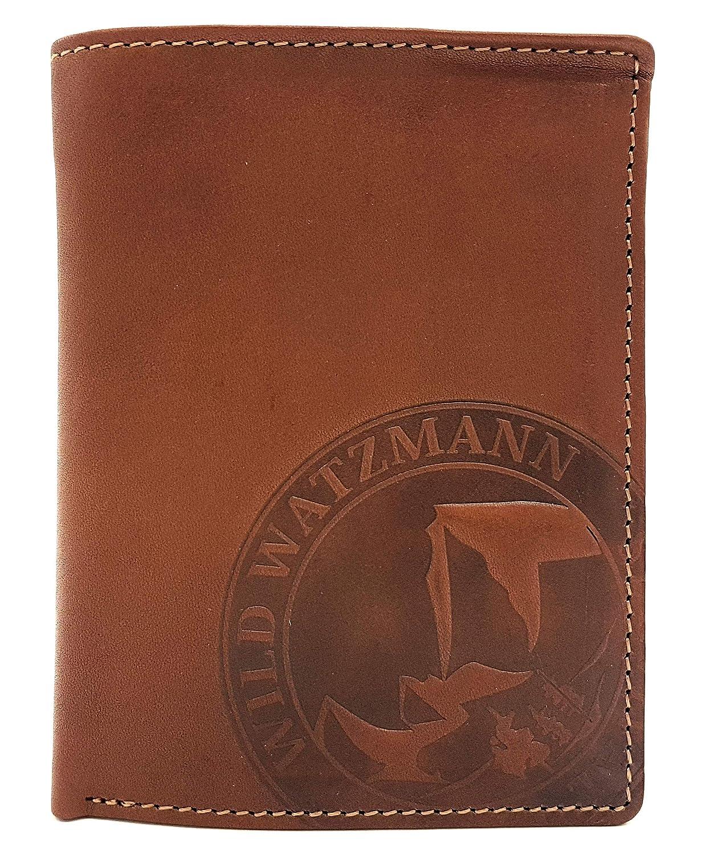 Watzmann echt Leder Geldbörse hoch, hoch, hoch, geschmeidiges Rindsleder Portemonnaie Ostwand B07N7HFYMX Geldbrsen e8e161