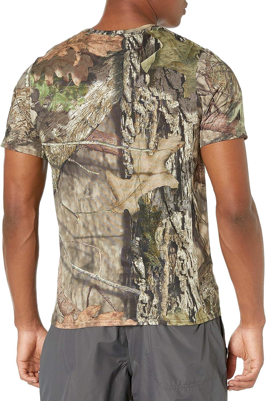 Mossy Oak Mens Short Sleeve Poly Camo Tee