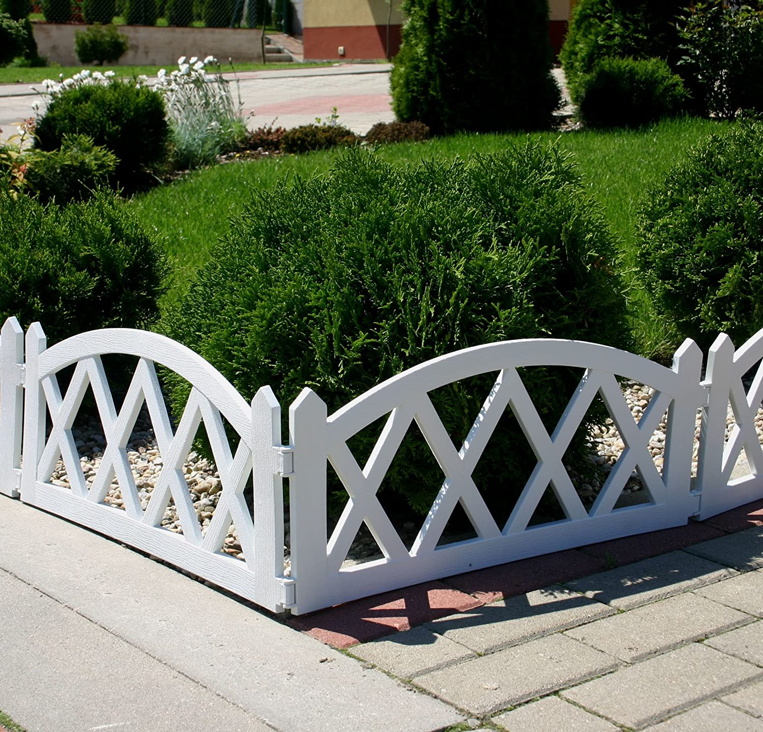 Decorative Ornamental Garden Fence 2 4 m White Amazon
