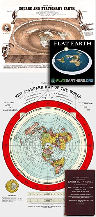 Amazon flat earth maps set of 2 maps flat earth map 24 x 36 amazon flat earth maps set of 2 maps flat earth map 24 x 36 gleasons new standard map of the world 24 x 18 map of the square and stationary gumiabroncs Gallery