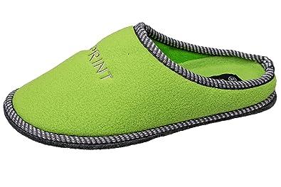 GIBRA® Damen Pantoffeln mit Filzsohle und Noppen, weiß, Gr. 40