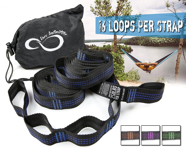 Amazon Hammock Suspension Tree Straps Easy 16 Loops Straps