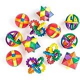 """Fun Puzzle Balls by Neliblu - Bulk Party Favors - Party Games - Fidget Brain Teaser Puzzles 2.5"""" - 1 Dozen Bulk Pack By Neliblu"""