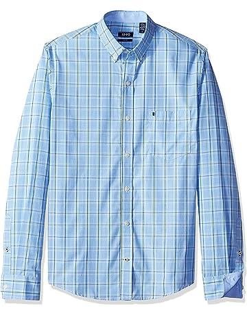 cde0eb9b81 IZOD Men's Big and Tall Button Down Long Sleeve Stretch Performance Plaid  Shirt