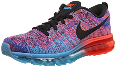 size 40 a5c4e 118b4 Nike Flyknit Air Max, Men's Running Shoes, (Blue Lagoon/Black-Bright ...