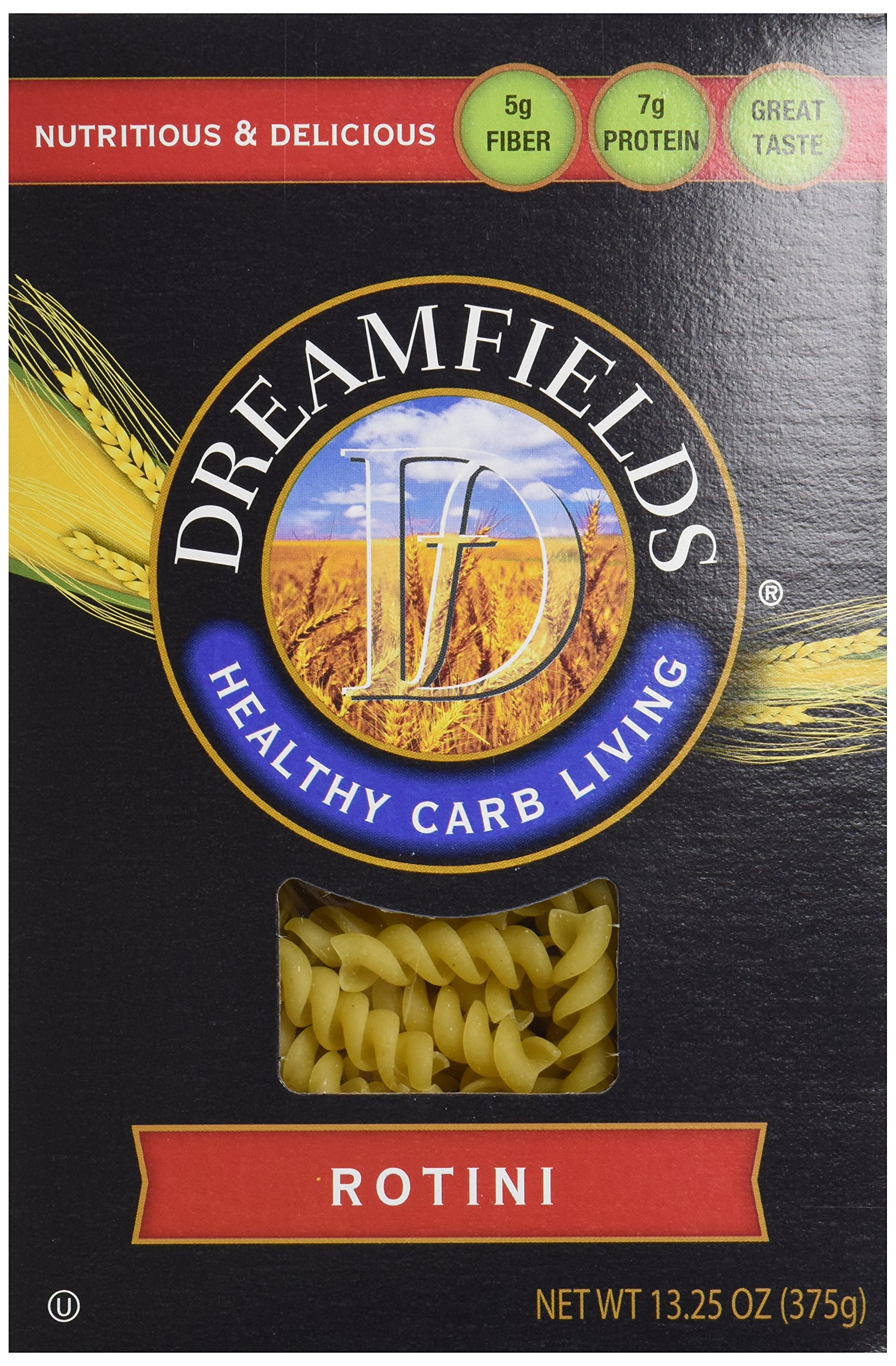 Dreamfields Pasta Healthy Carb Living, Rotini, 13.25-Ounce Boxes (Pack of 6)