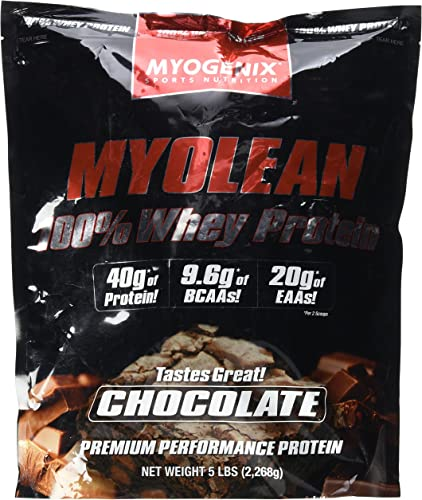 Myolean 100 Whey Protein Powder, Chocolate, 5 Myogenix