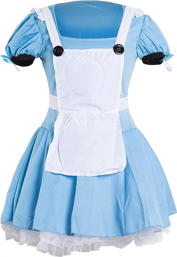 Emmas Wardrobe Disfraz Alicia | Adulto Vestido de Azul, Blanco ...
