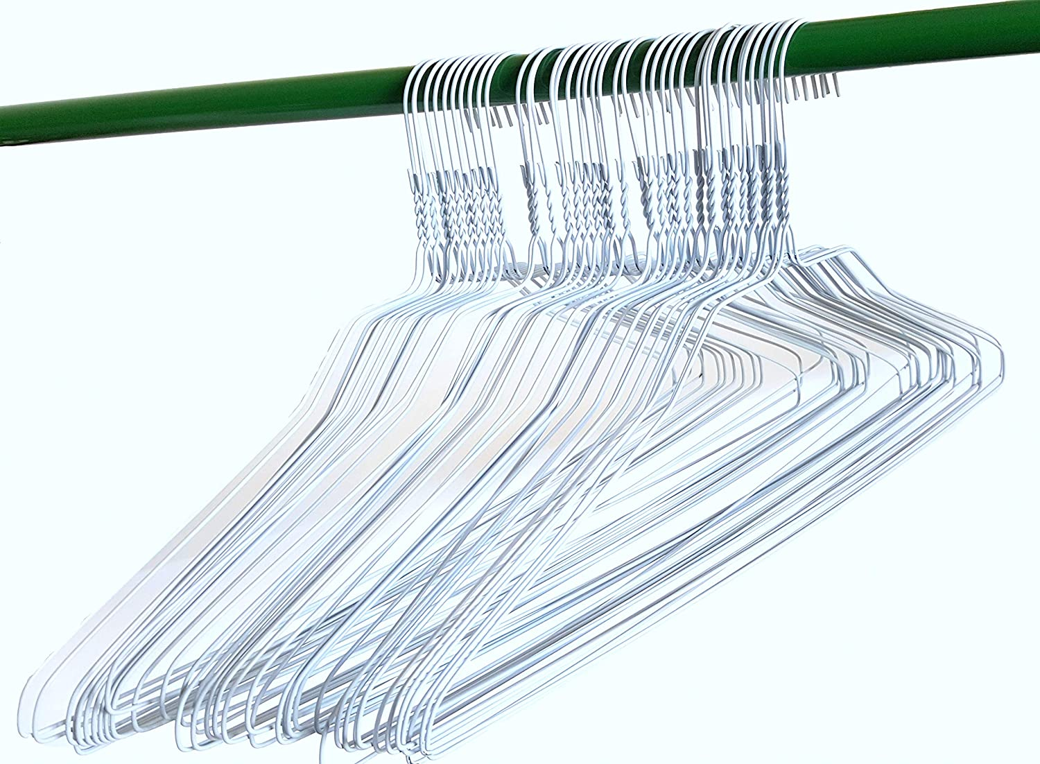 50 Wire Hangers 18 Standard White Clothes Hangers Homeland Goods