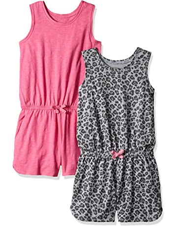 e10ebcbc1648 Amazon Brand - Spotted Zebra Girls' Toddler & Kid 2-Pack Knit Sleeveless  Tank