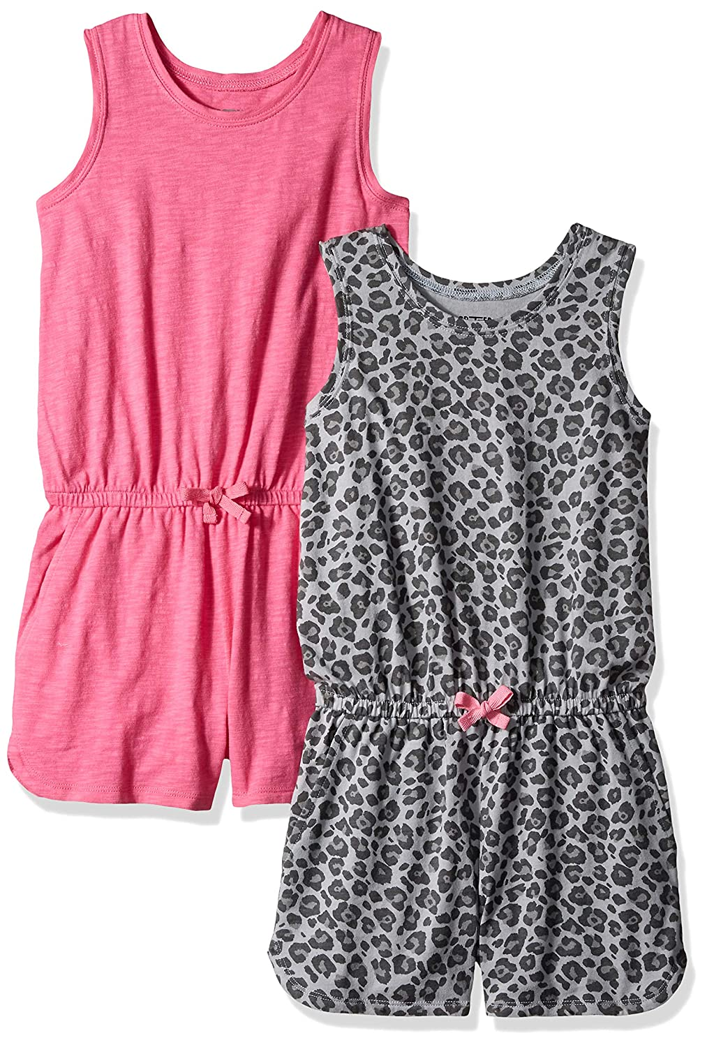 Marchio Spotted Zebra 2-Pack Knit Sleeveless Tank Rompers Bambina