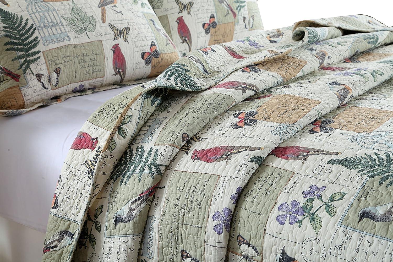 3 Piece Reversible Quilt Set, Bedspreads Set