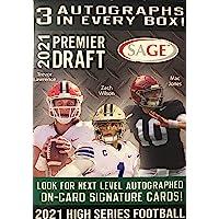 $23 » 2021 SAGE Hit Premier Draft High Series Football BLASTER box (63 cards/bx incl.…